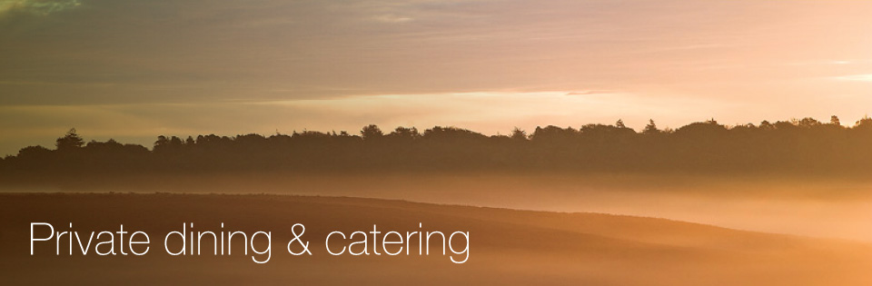 halcyon New Forest Cottages private dining and catering